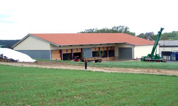 Neubau eines Getreidelagers mit überdachter Annahme
