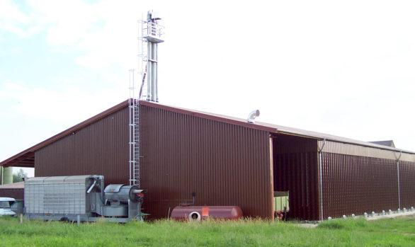 Neubau einer Getreidelagerhalle mit mobilem Trockner