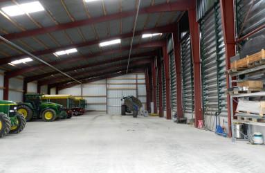 Neubau einer Getreidelagerhalle mit Trockner