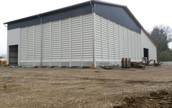Neubau einer Lagerhalle für Holzpellets