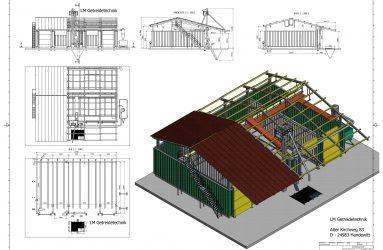 LM Beispiel 3D-Flachlager Zeichnung